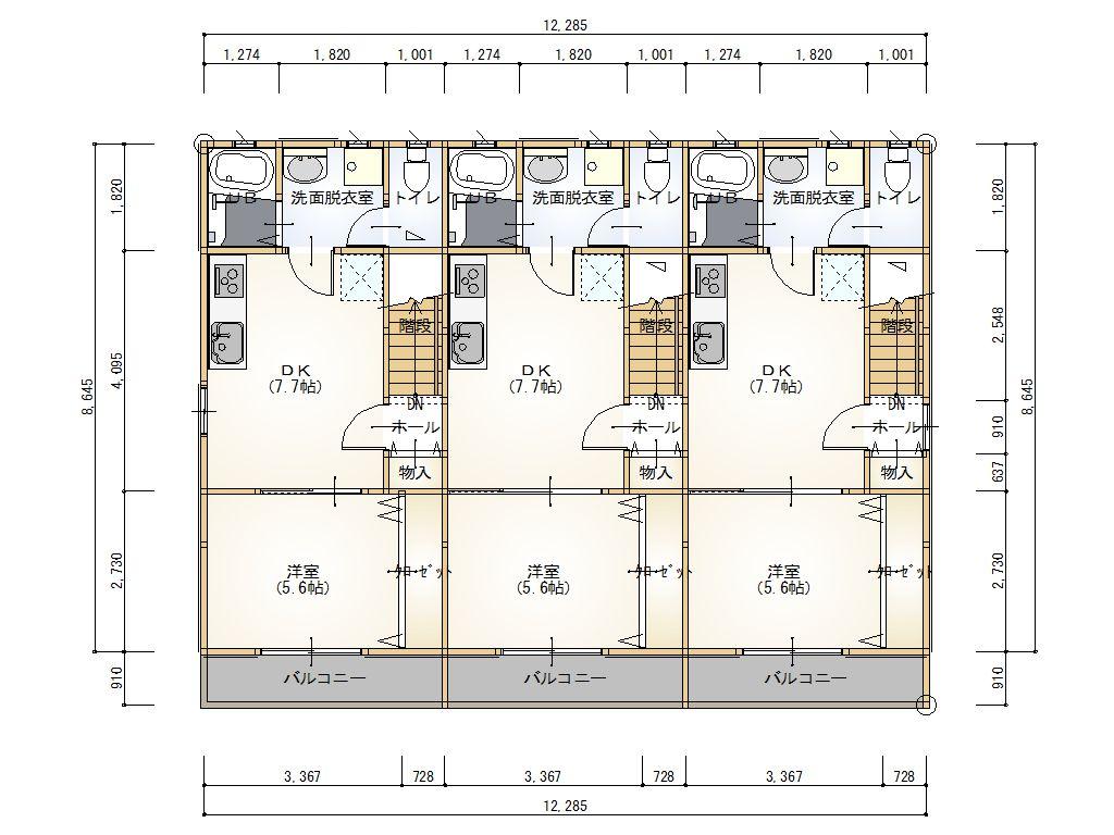 2階 平面図大